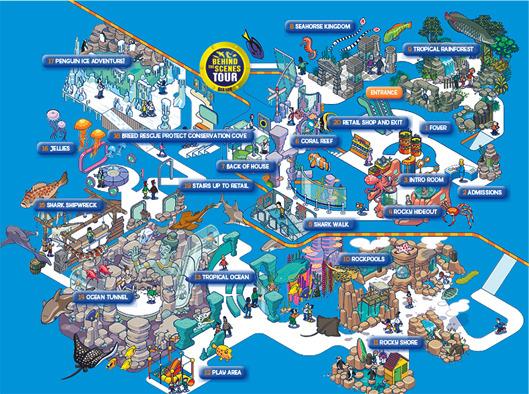 Sea life bangkok ocean world siam bangkok map siambangkokmap gumiabroncs Gallery
